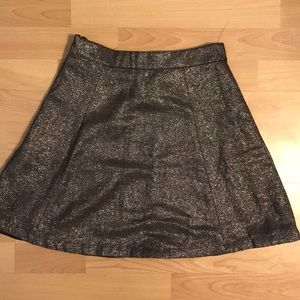 French Connection Gold Skirt
